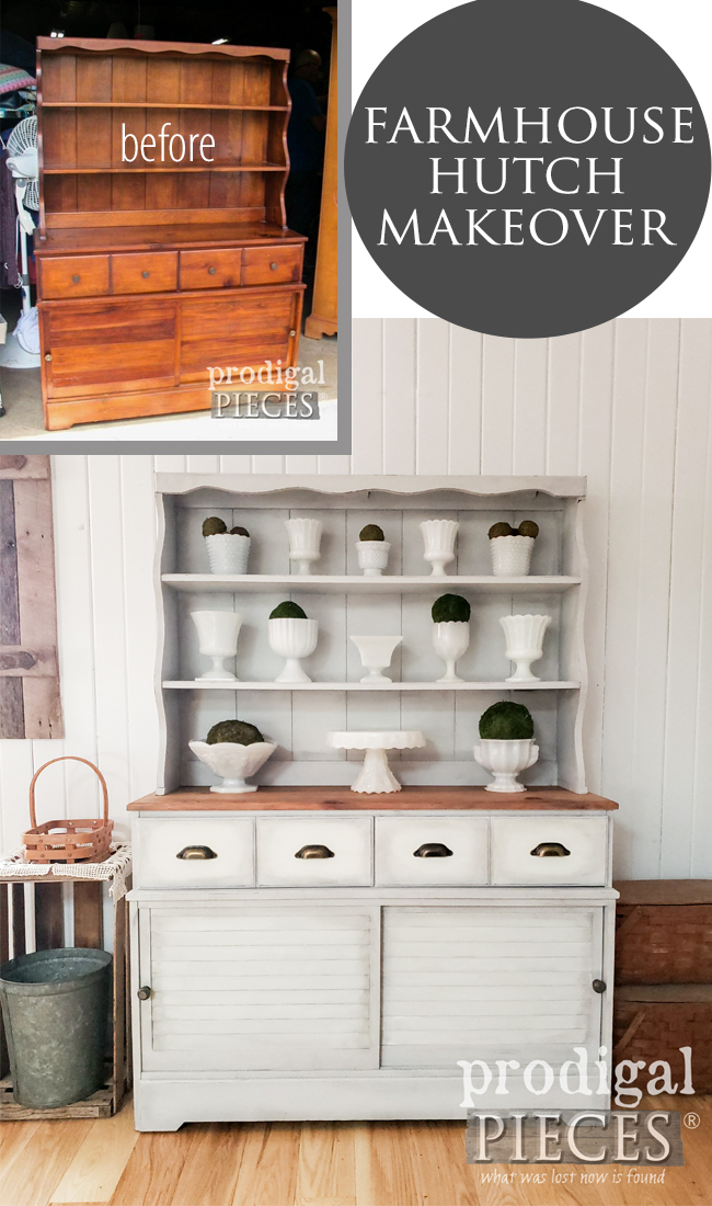 Vintage Farmhouse Hutch Makeover using the HomeRight Super Finish Max Extra Sprayer and Blending Techniques by Larissa of Prodigal Pieces | prodigalpieces.com #prodigalpieces #farmhouse #home #furniture #homedecor #diy