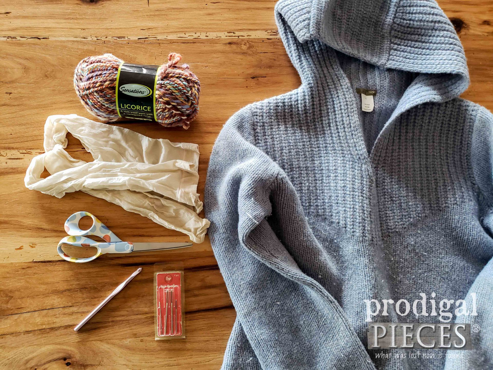 DIY Wool Dryer Ball from Upcycled Sweater Supplies by Larissa of Prodigal Pieces | prodigalpieces.com