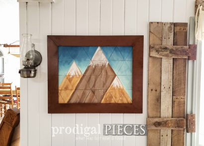 Featured DIY Mountain Wall Art by Larissa of Prodigal Pieces | prodigalpieces.com #prodigalpieces #home #farmhouse #geometric #homedecor #diy #modern