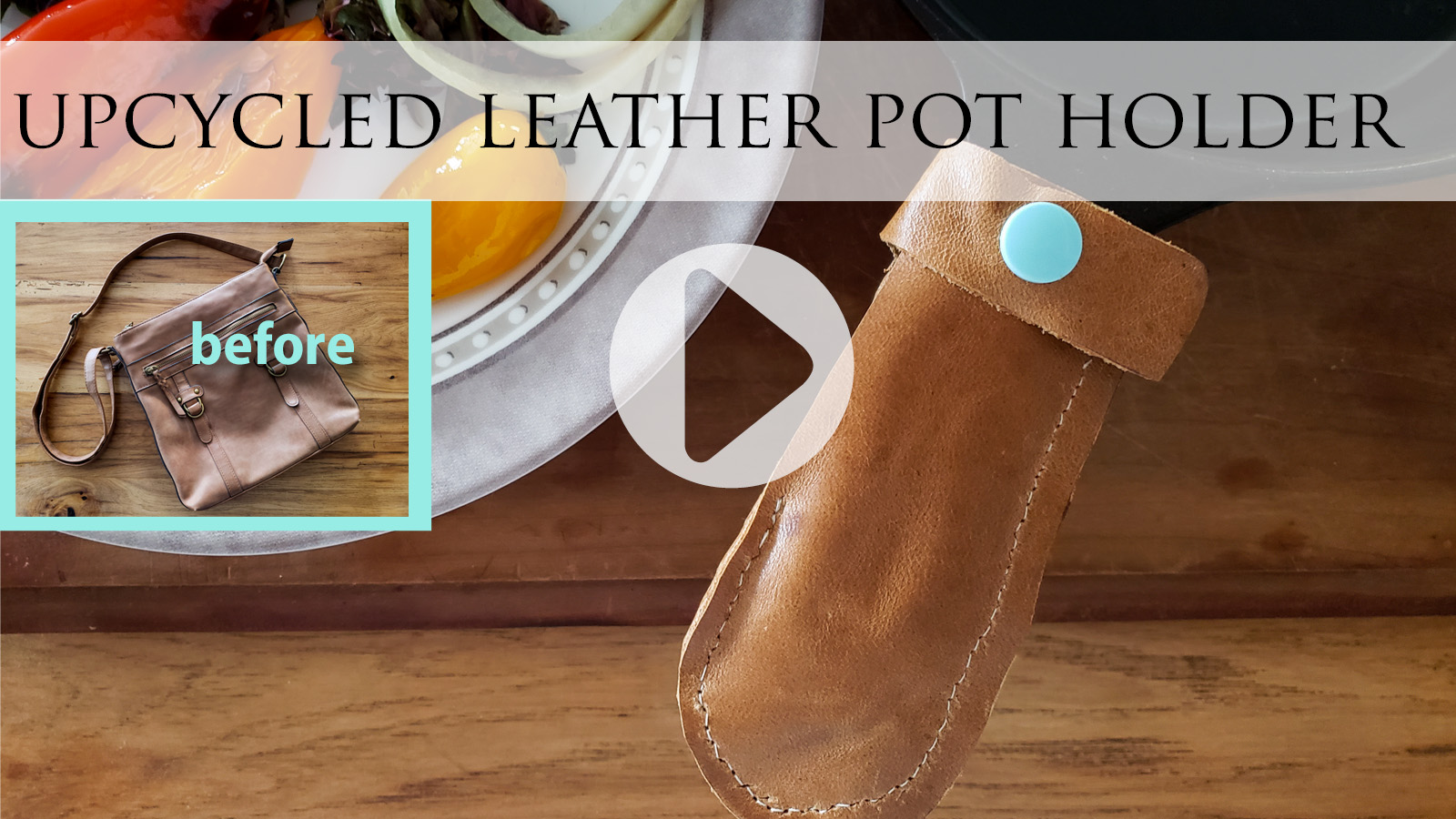 Upcycled Leather Pot Holder from Refashioned Purse by Prodigal Pieces   prodigalpieces.com