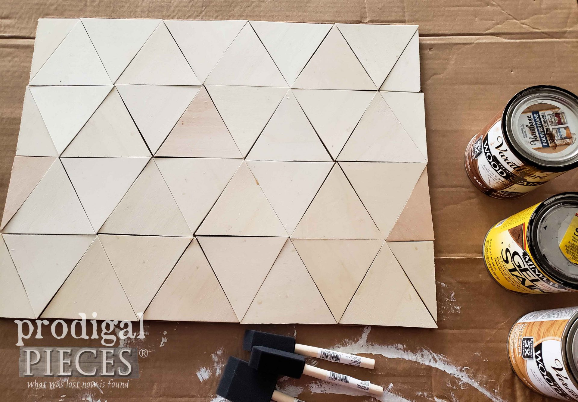 Prepping DIY Mountain Wall Art for Stain by Larissa of Prodigal Pieces | prodigalpieces.com