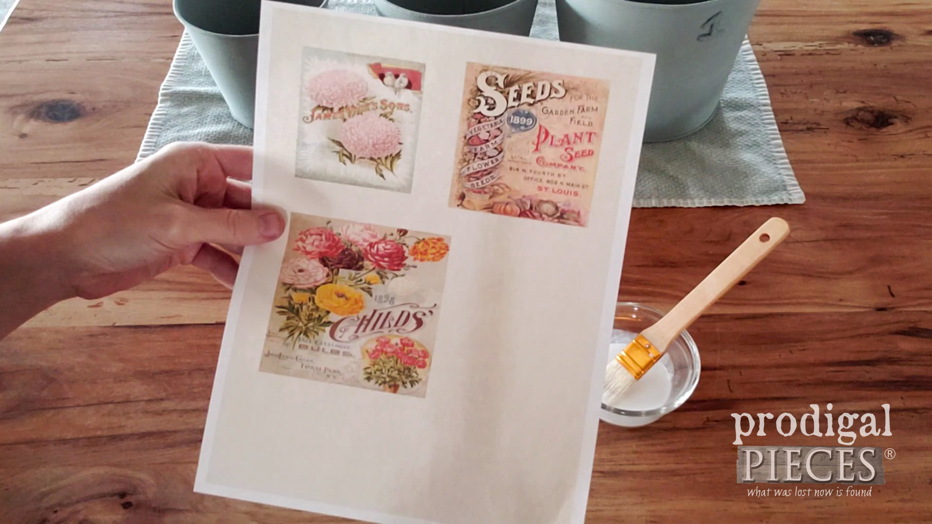 Free Vintage Seed Packet Printables | prodigalpieces.com