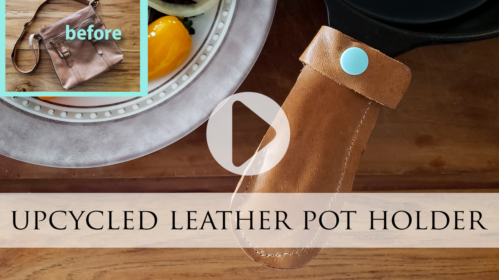Upcycled Leather Pot Holder from Purse by Prodigal Pieces   prodigalpieces.com