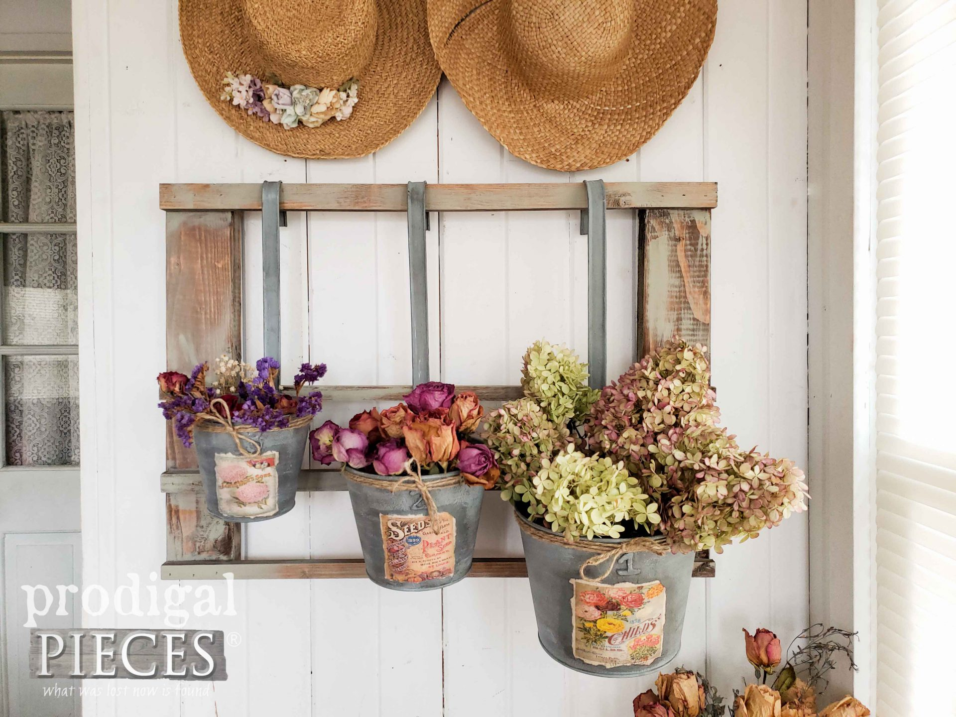 Upcycled Thrifted Finds Made into Farmhouse Decor by Larissa of Prodigal Pieces | prodigalpieces.com #prodigalpieces #diy #upcycled #home #cottage #farmhouse #homedecor