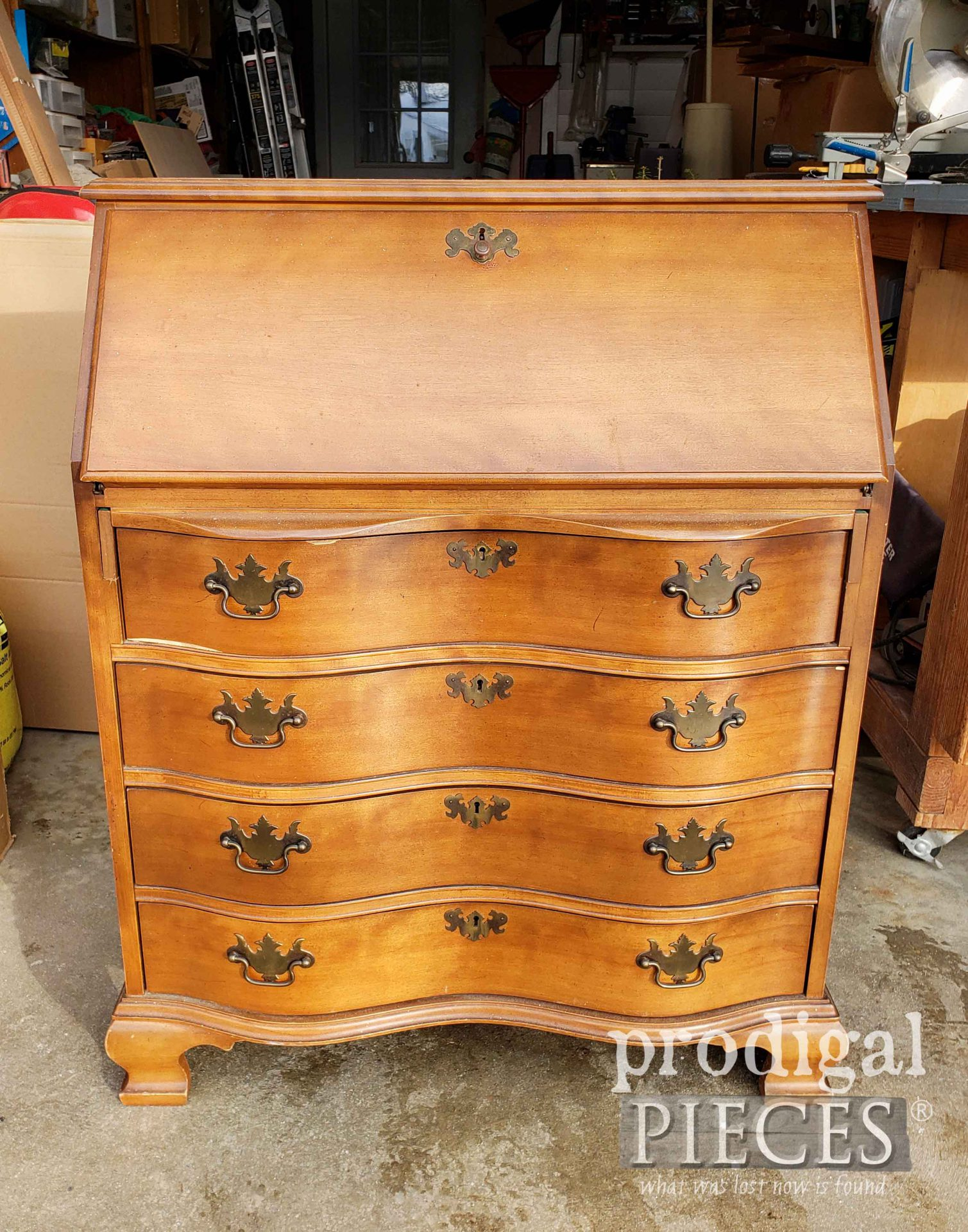 Vintage Secretary Desk Before Makeover by Larissa of Prodigal Pieces | prodigalpieces.com #prodigalpieces