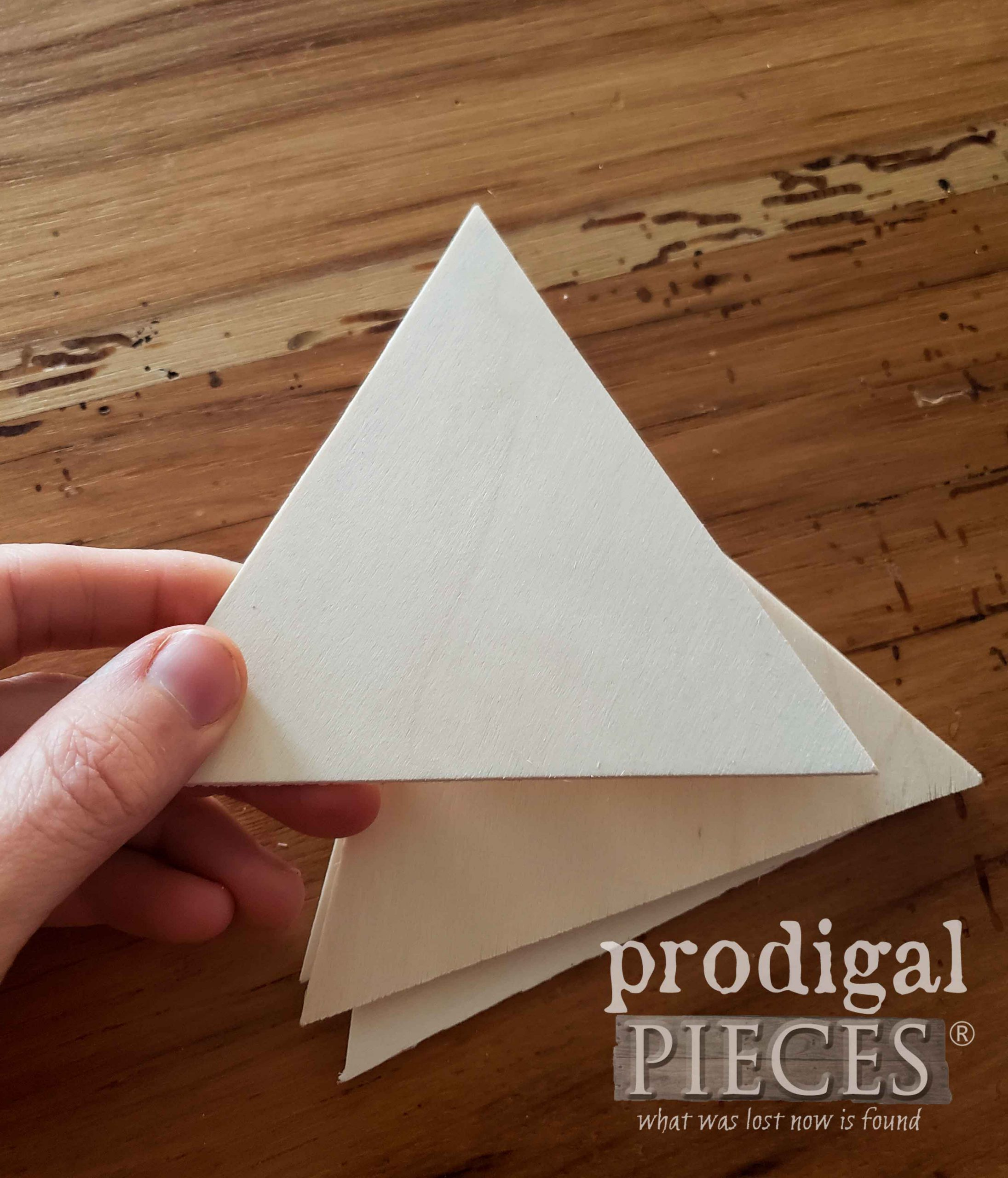 Wooden Triangles for Geometric DIY Mountain Wall Art by Prodigal Pieces | prodigalpieces.com