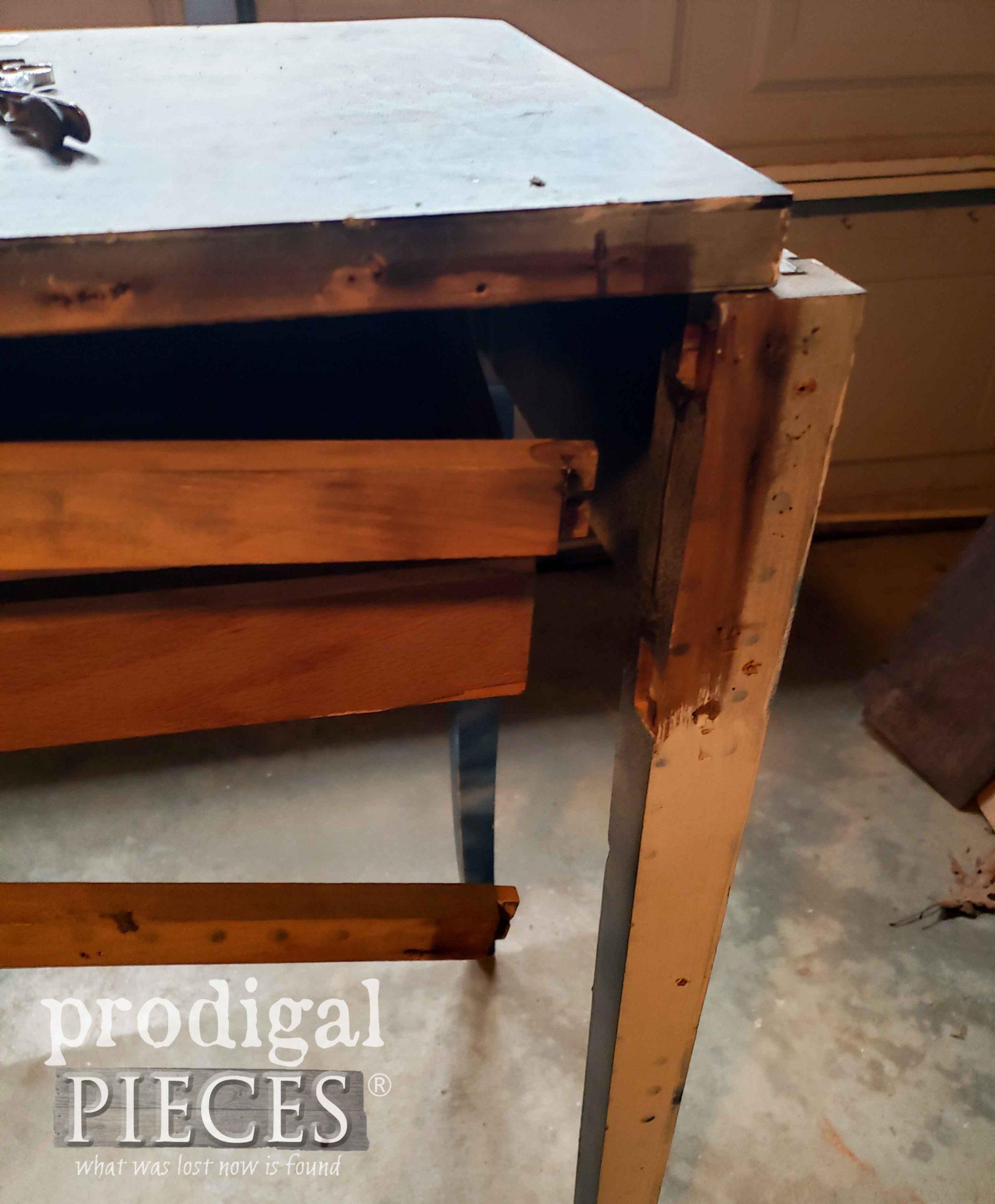 Broken Desk Needs Repair | prodigalpieces.com