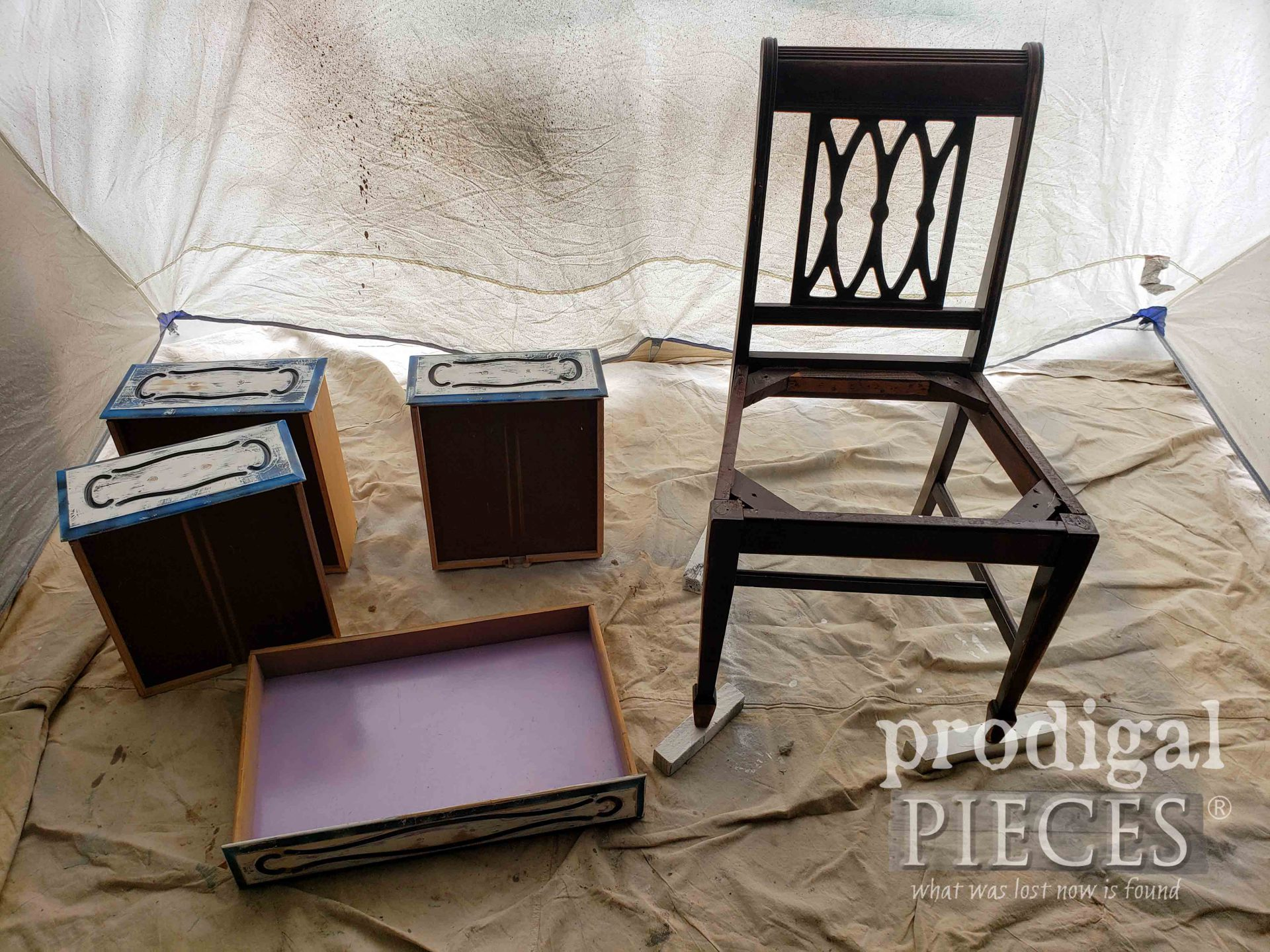 Desk Drawers and Chair by Larissa of Prodigal Pieces | prodigalpieces.com