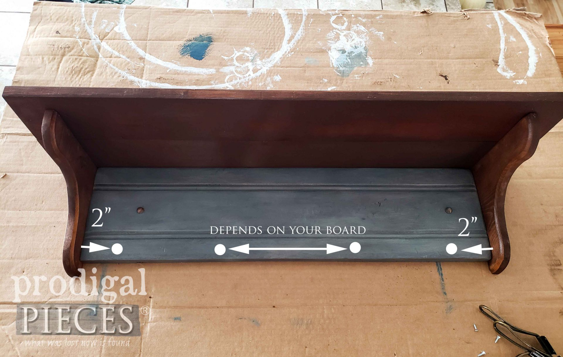 DIY Coat Rack Layout for Hooks   prodigalpieces.com