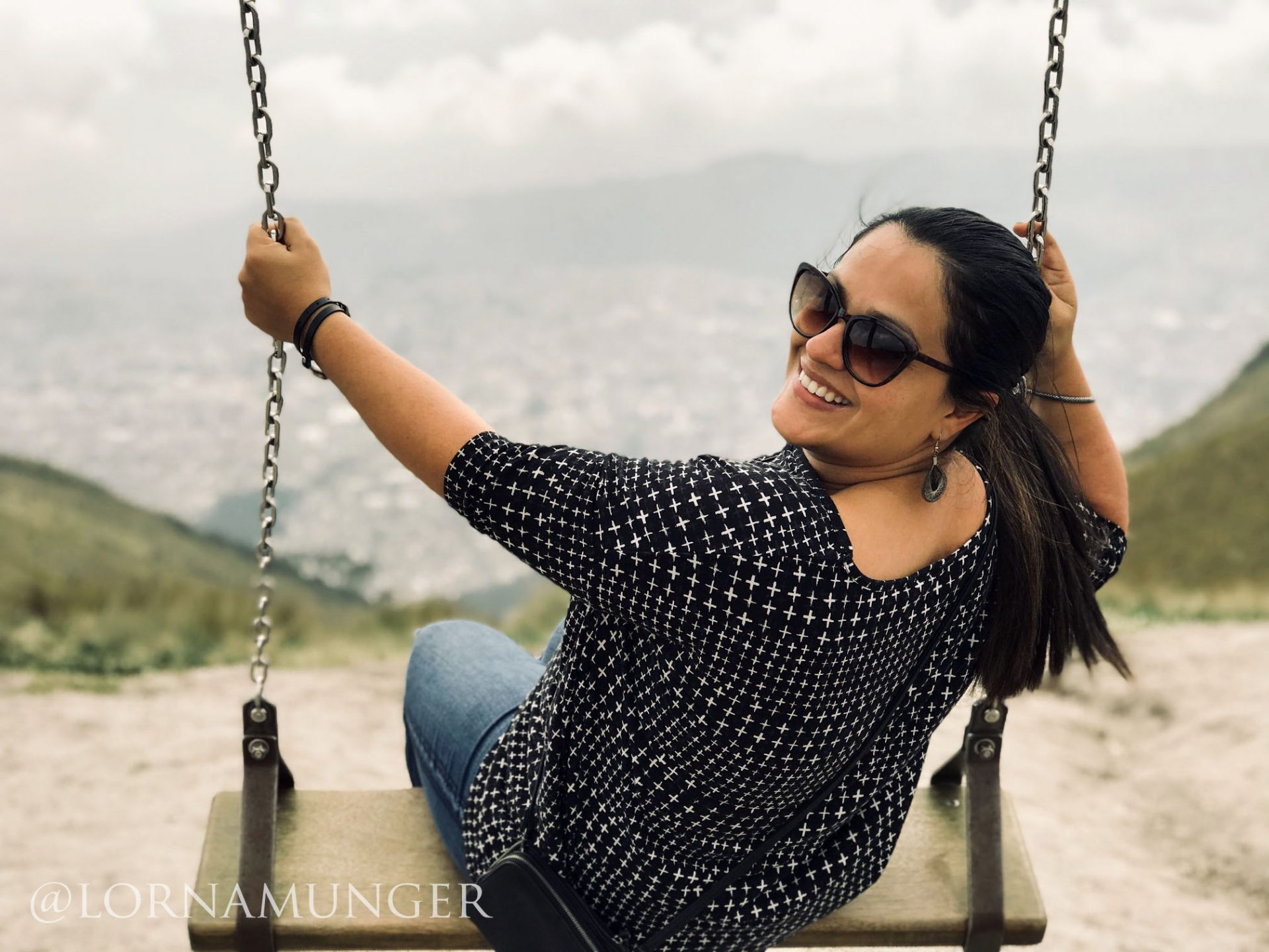 Lady Smiles on Swing in Ecuador | prodigalpieces.com