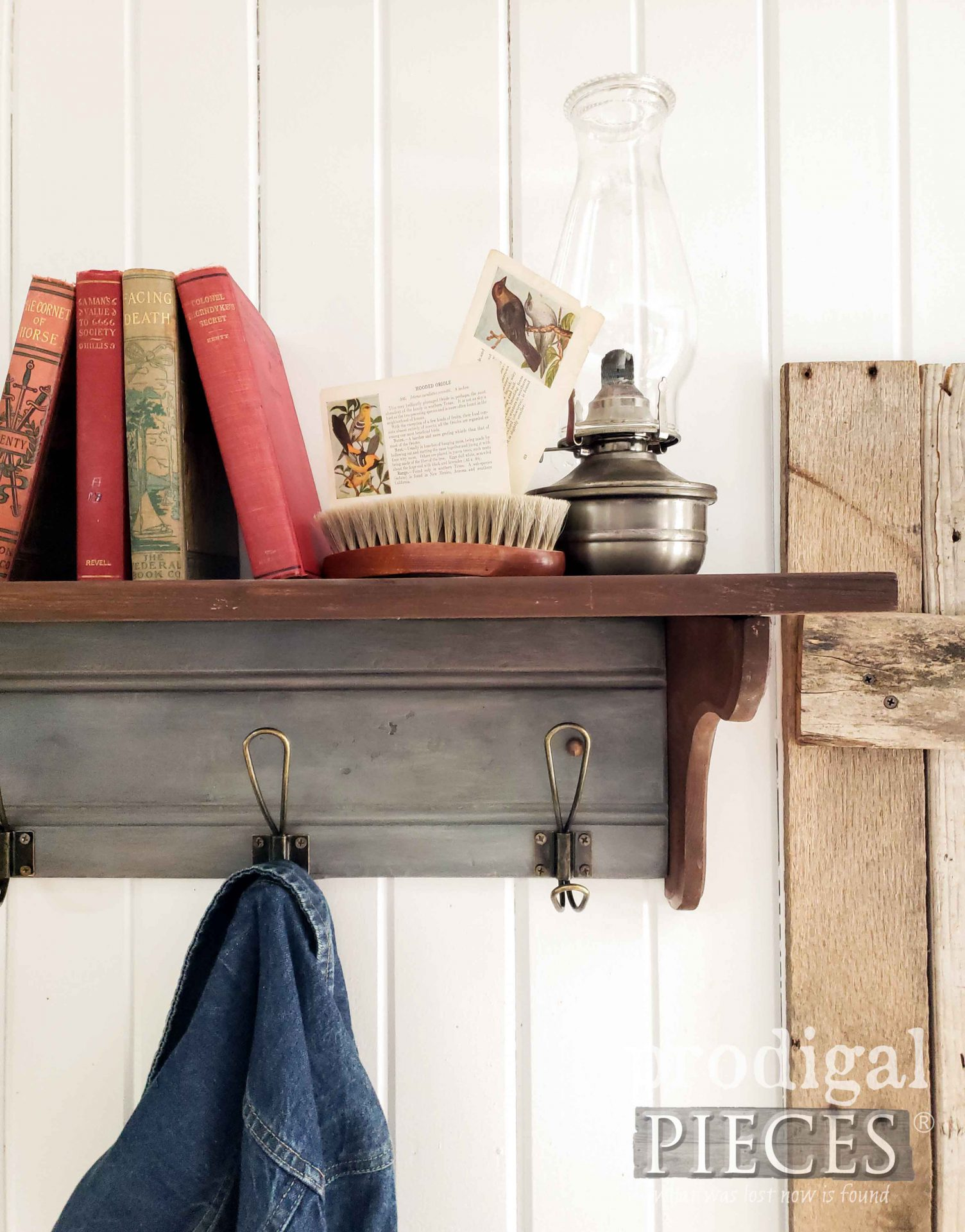 Handmade Farmhouse Coat Rack by Larissa of Prodigal Pieces | prodigalpieces.com #prodigalpieces #diy #home #homedecor #storage