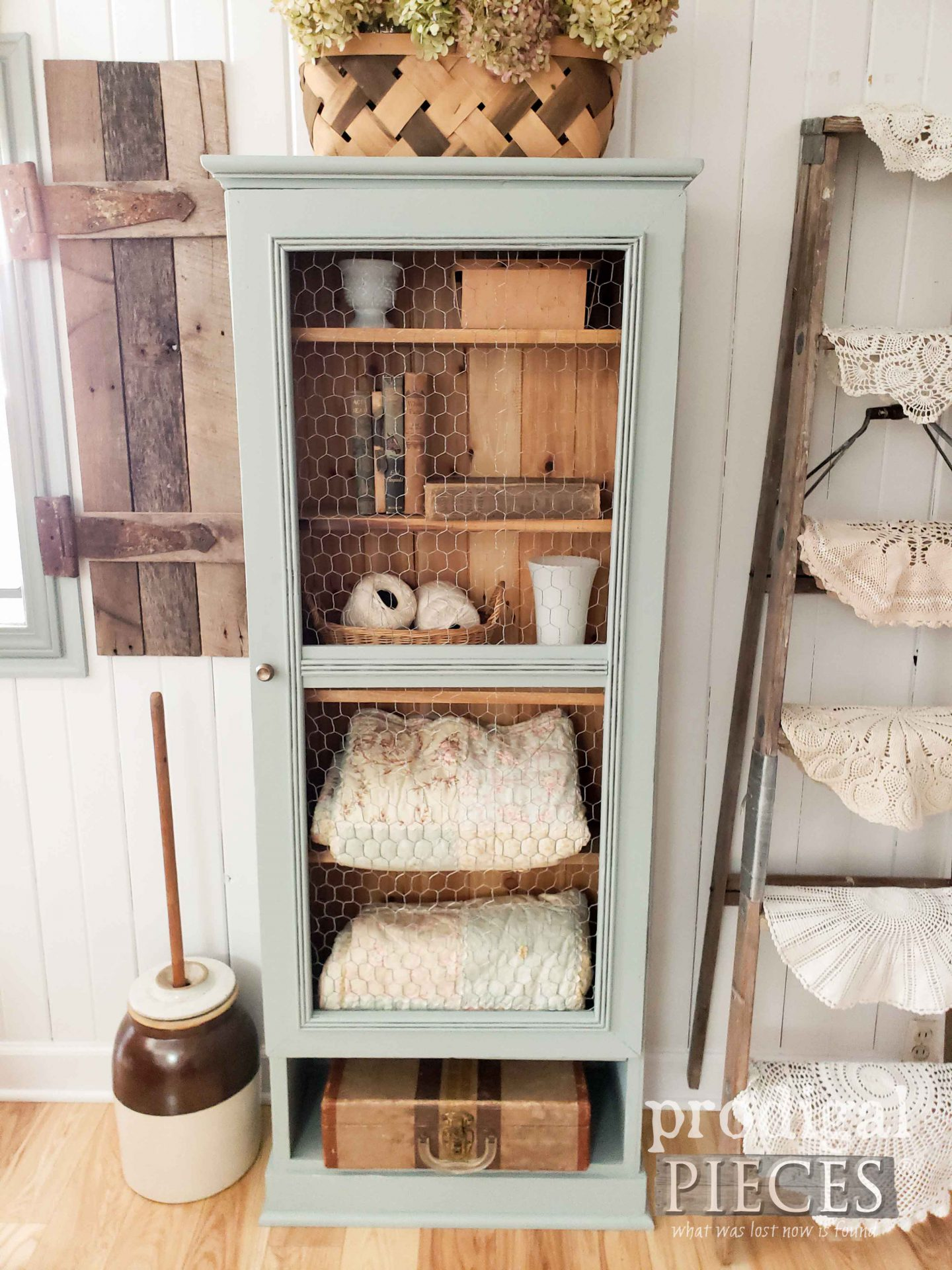 Handmade Farmhouse Style Cupboard by Larissa of Prodigal Pieces | prodigalpieces.com #prodigalpieces #home #homedecor #farmhouse #furniture