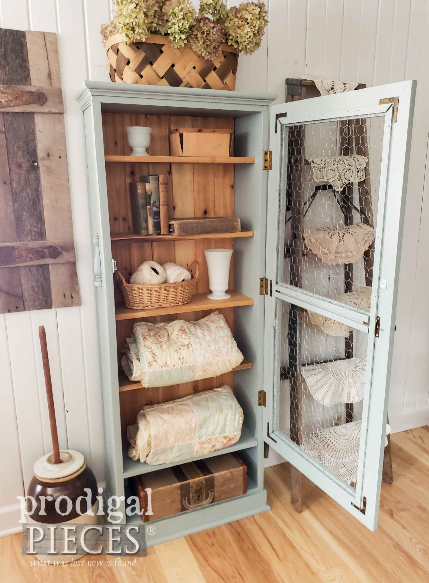 Farmhouse Upcycled Gun Cabinet DIY Fun by Larissa of Prodigal Pieces | prodigalpieces.com #prodigalpieces #upcycled #vintage #furniture #farmhouse #home #homedecor