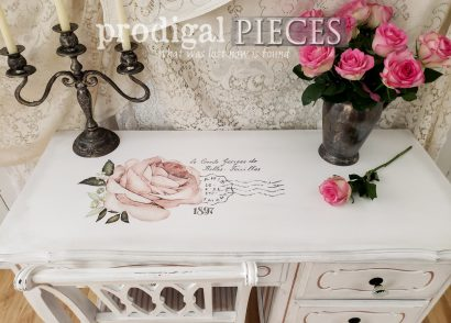 Featured French Provincial Desk Makeover by Larissa of Prodigal Pieces | prodigalpieces.com #prodigalpieces #furniture #diy #home #homedecor