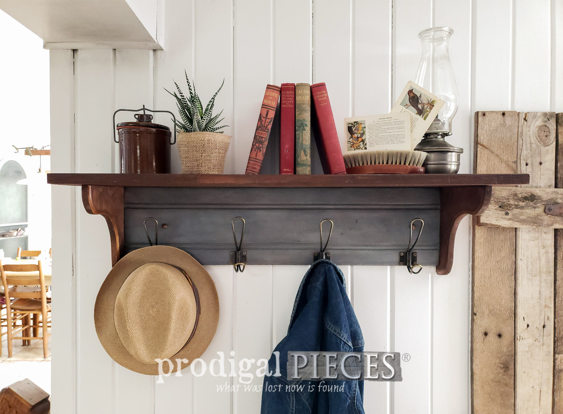 Featured DIY Reclaimed Coat Rack by Larissa of Prodigal Pieces | prodigalpieces.com #prodigalpieces #home #farmhouse #homedecor #diy #storage
