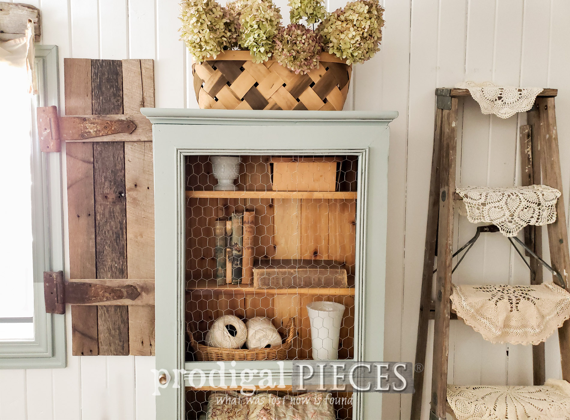 Featured Upcycled Gun Cabinet into Cupboard by Larissa of Prodigal Pieces | prodigalpieces.com #prodigalpieces #diy #farmhouse #home #homedecor