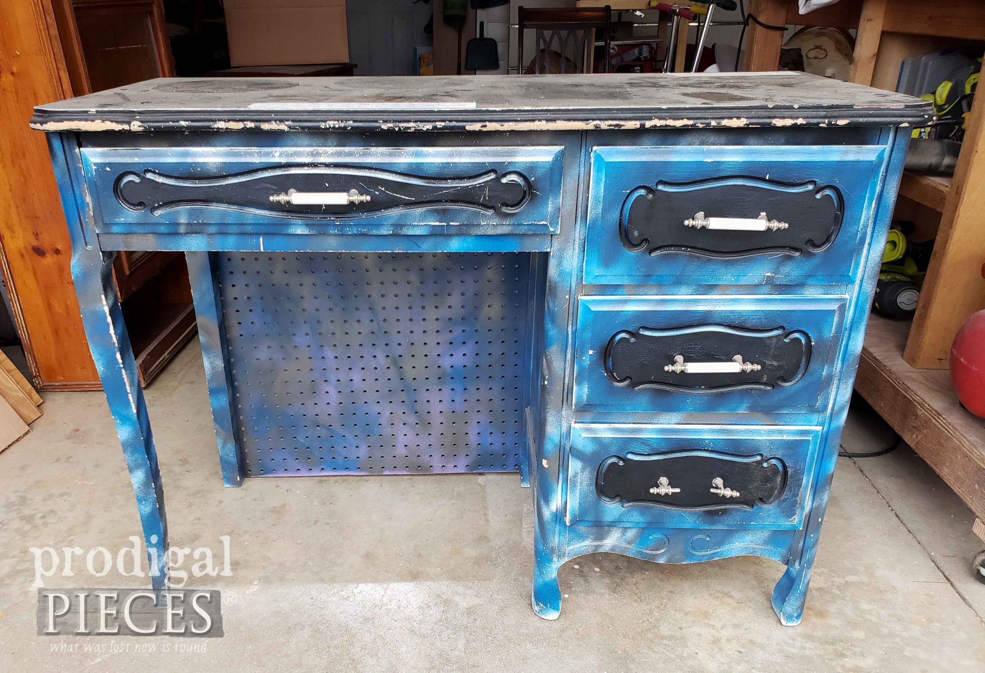 French Provincial Desk Before Makeover by Larissa of Prodigal Pieces | prodigalpieces.com #prodigalpieces