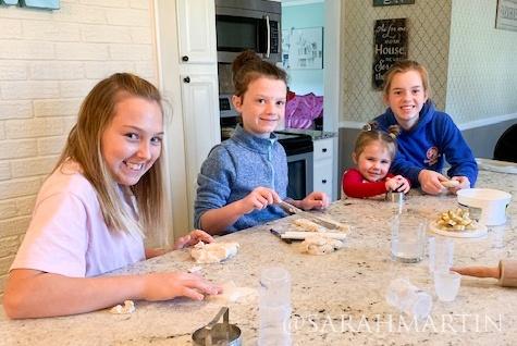 Kids Smile in Kitchen | prodigalpieces.com #prodigalpieces