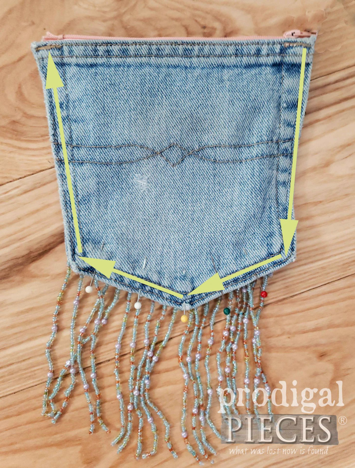 Denim Pocket Purse Stitch Layout | Prodigal Pieces | prodigalpieces.com