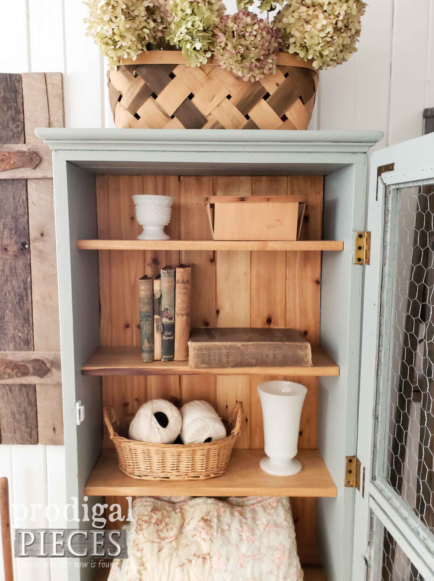 Rustic Cupboard Created by Larissa of Prodigal Pieces from Repurposed Gun Cabinet | prodigalpieces.com #prodigalpieces #farmhouse #diy #home #furniture #homedecor