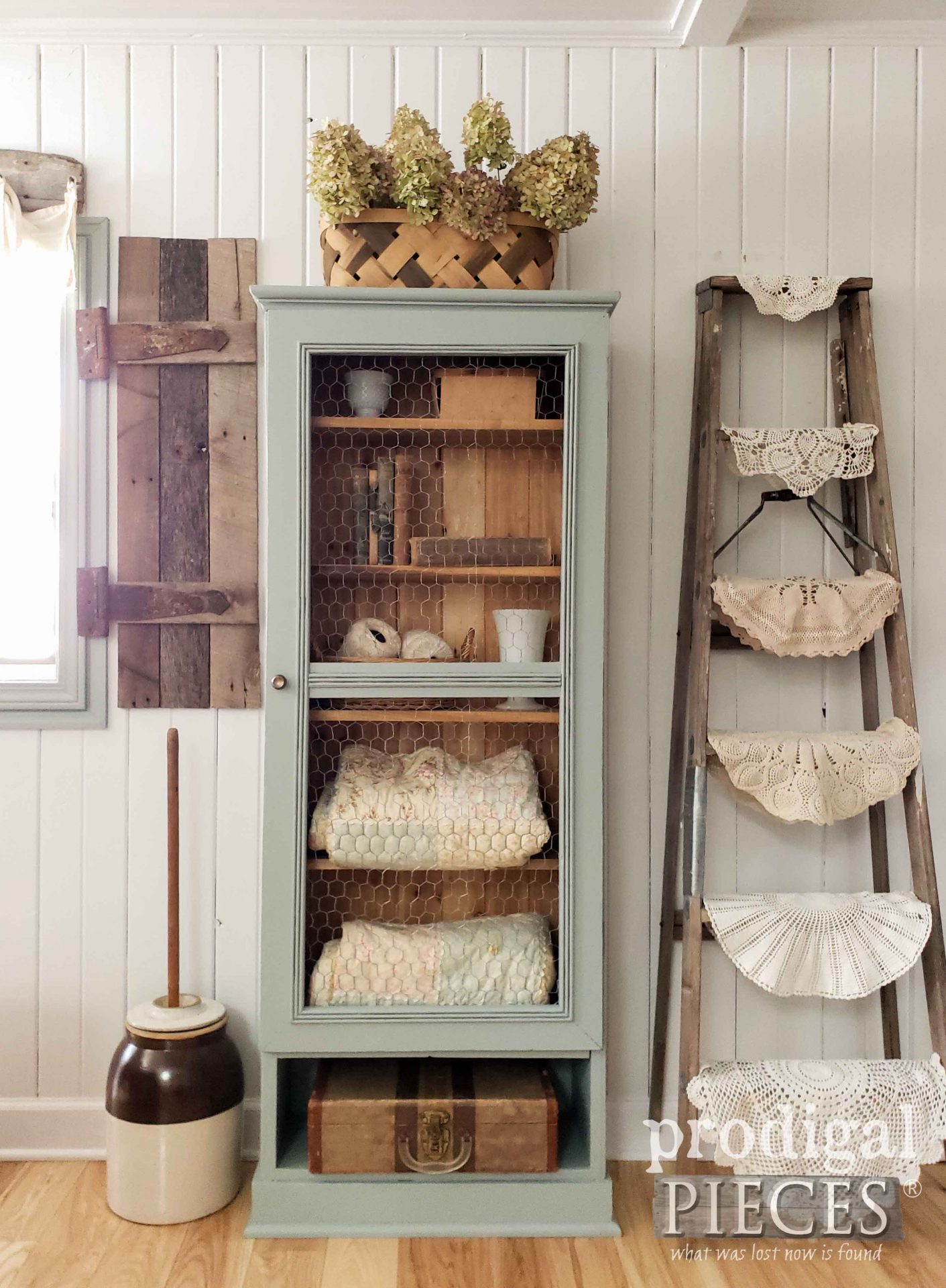 Rustic Farmhouse Cupboard from an Upcycled Gun Cabinet by Larissa of Prodigal Pieces | prodigalpieces.com #prodigalpieces #diy #furniture #home #homedecor