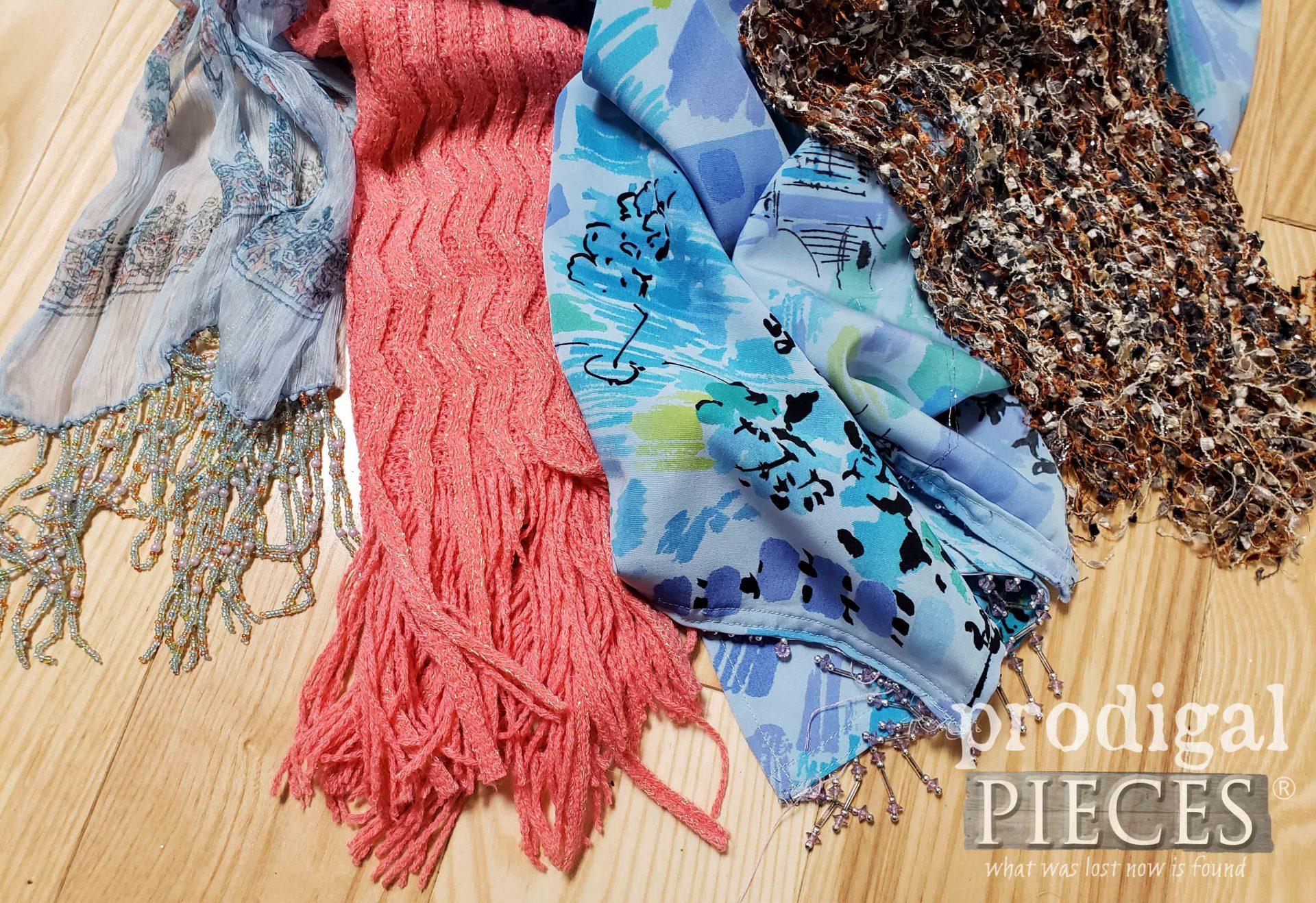 Thrifted Scarves for Upcycled Denim Pocket Purse Trim   prodigalpieces.com