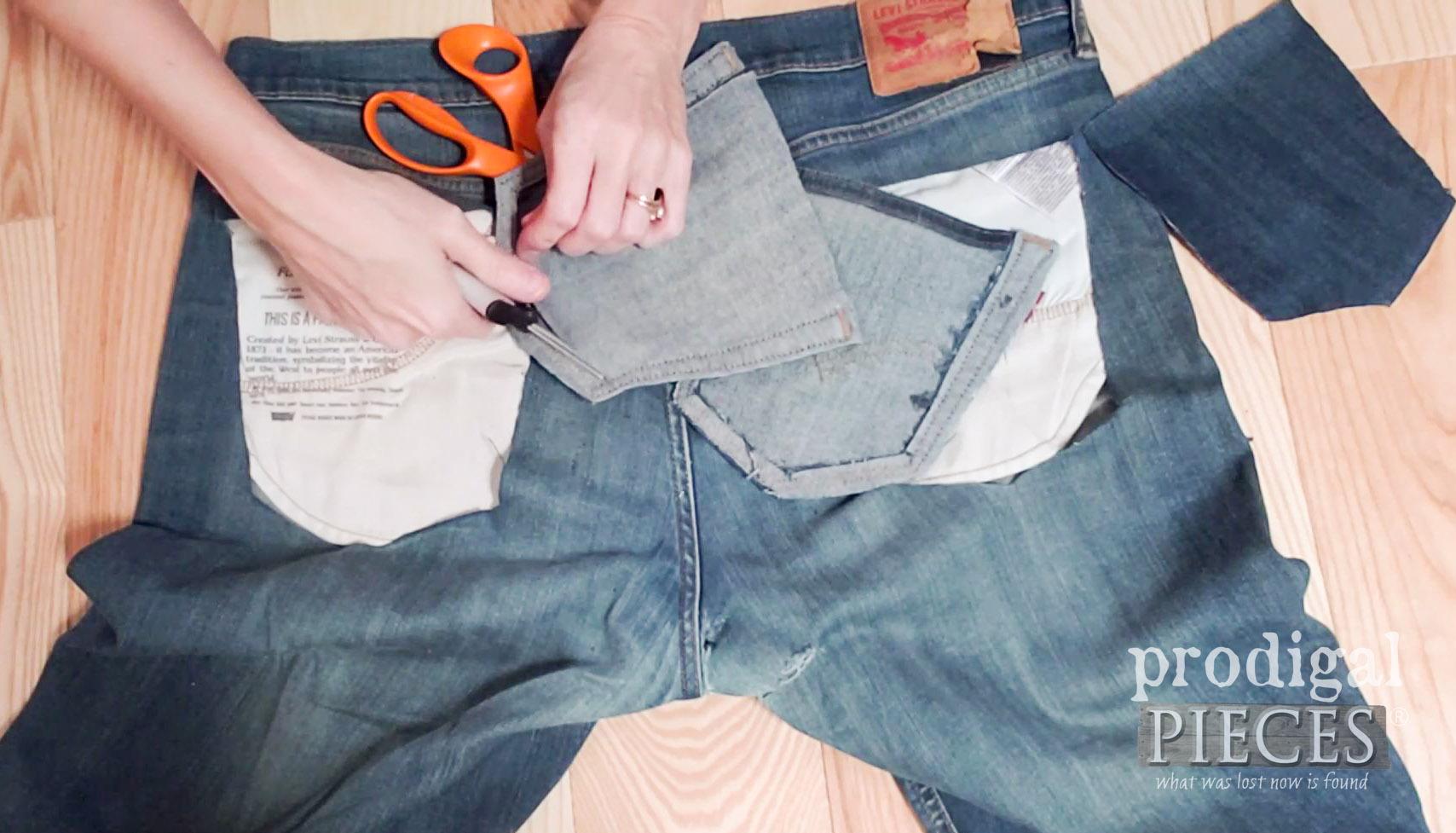 Trimming Back Pocket for Purse   prodigalpieces.com