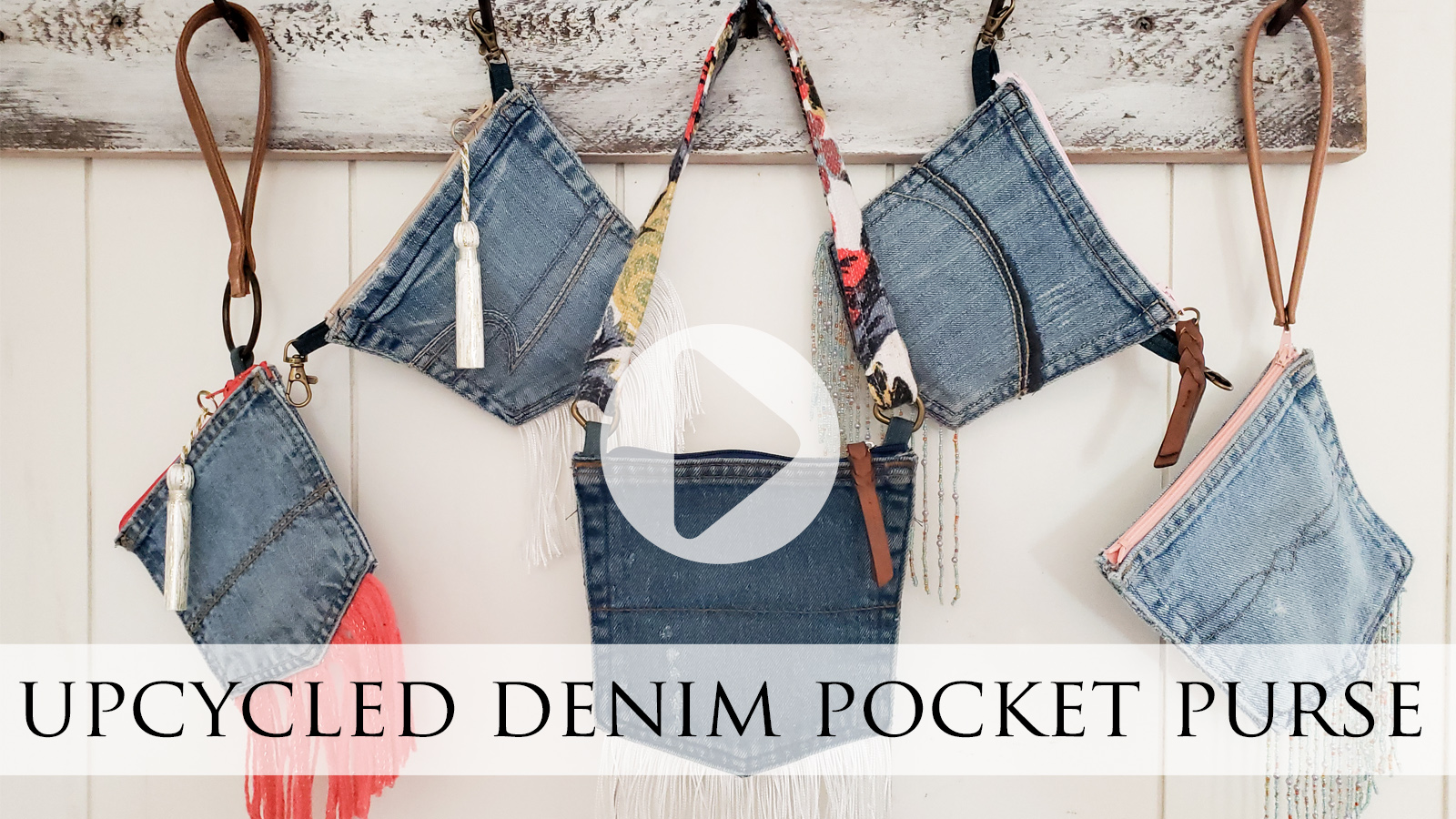Upcycled Denim Pocket Purse Video Tutorial by Larissa of Prodigal Pieces | prodigalpieces.com