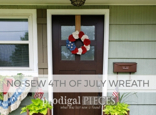 No-Sew 4th of July Wreath by Prodigal Pieces | prodigalpieces.com #prodigalpieces