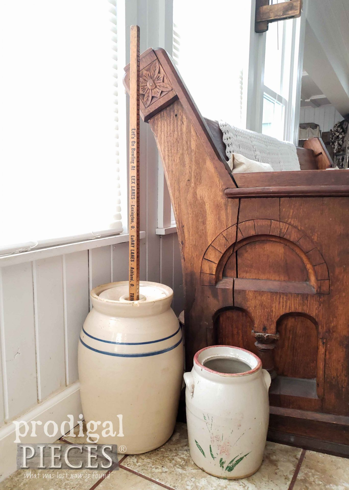 Antique Butter Churn with Walking Stick by Prodigal Pieces | prodigalpieces.com #prodigalpieces #farmhouse #antique #home #homedecor