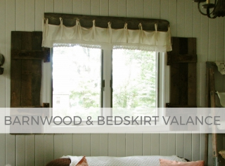 Rustic farmhouse barnwood and bedskirt valance by Larissa of Prodigal Pieces | prodigalpieces.com