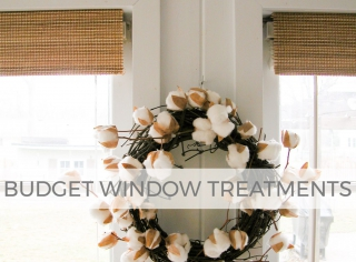 Create your own budget window treatments with this tutorial by Larissa of Prodigal Pieces | prodigalpieces.com #prodigalpieces
