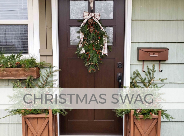 Add festive holiday decor with this Upcycled Christmas Swag with video tutorial by Larissa of Prodigal Pieces | prodigalpieces.com #prodigalpieces