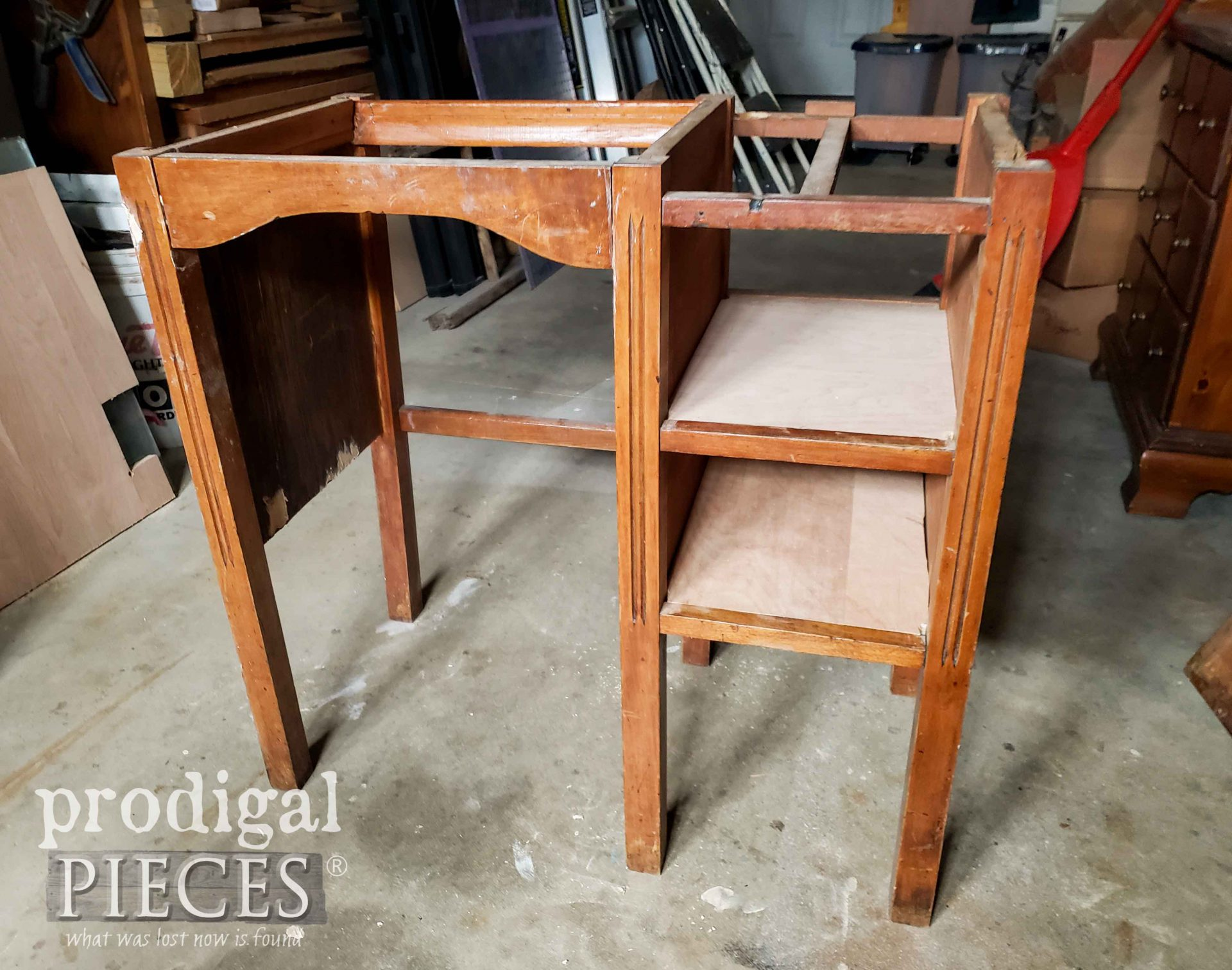 Upcycled Kids Desk with Shelves | prodigalpieces.com