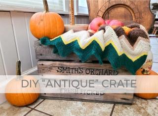 DIY Antique Crate Tutorial you can build with Larissa of Prodigal Pieces | prodigalpieces.com #prodigalpieces