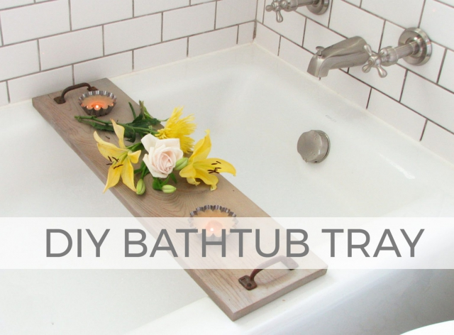 Create a gift that keeps giving ~ a DIY Bathtub Tray | Two styles defined in this tutorial by Larissa of Prodigal Pieces | prodigalpieces.com #prodigalpieces