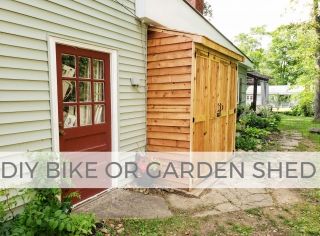 Build a DIY Bike or Garden Shed with this tutorial by Larissa of Prodigal Pieces | prodigalpieces.com #prodigalpieces