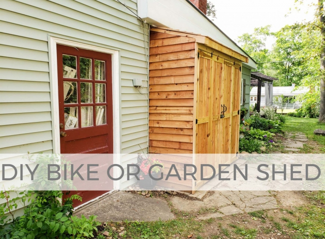 DIY Bike or Garden Shed by Larissa of Prodigal Pieces | prodigalpieces.com