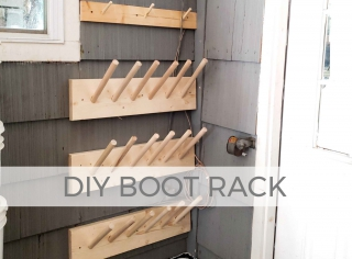DIY Boot Rack for Garage, Closet, and Barn Storage by Larissa of Prodigal Pieces | prodigalpieces.com