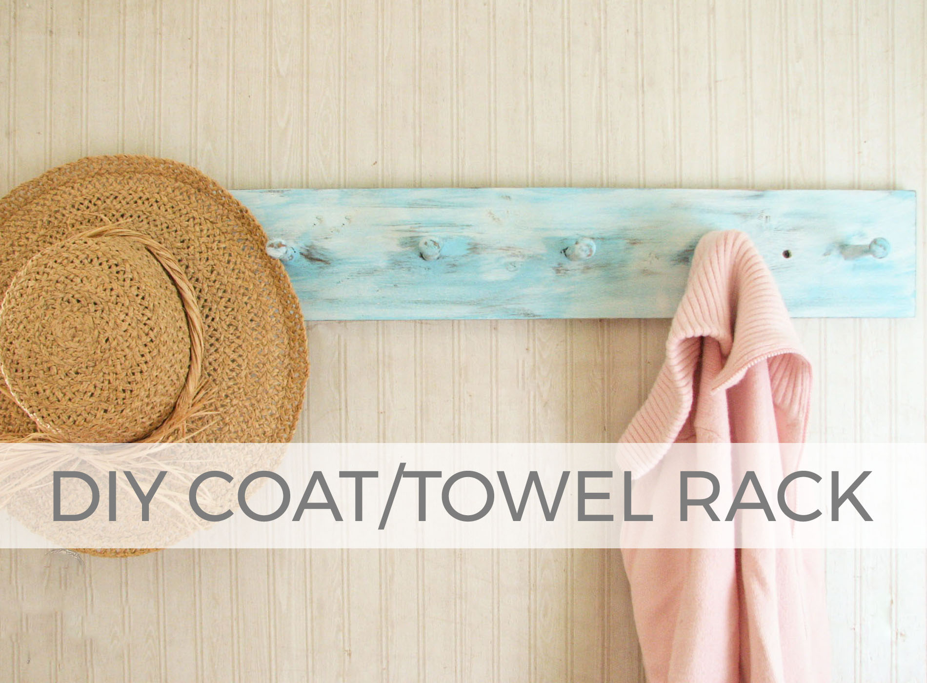 Add charm and storage to your home with this DIY Coat/Towel Rack by Larissa of Prodigal Pieces | prodigalpieces.com #prodigalpieces