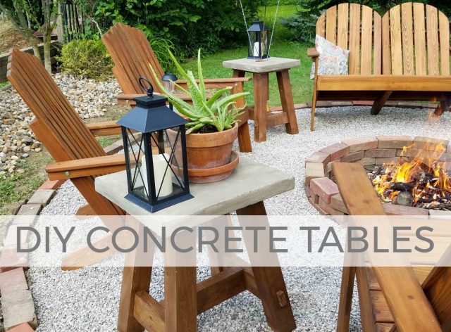 Build these DIY Concrete tables for indoor or outdoor decor by Larissa of Prodigal Pieces | prodigalpieces.com #prodigalpieces