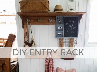 Create function and fun with this DIY Entry Coat Rack with Free Build Plans by Larissa of Prodigal Pieces | prodigalpieces.com #prodigalpieces
