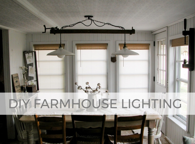 Create your own farmhouse decor with repurposed DIY lighting | Tutorial by Larissa of Prodigal Pieces | prodigalpieces.com #prodigalpieces