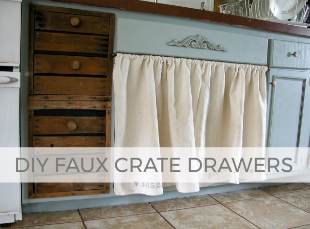 Get the rustic farmhouse feel with DIY Faux Crate Drawers by Larissa of Prodigal Pieces | prodigalpieces.com #prodigalpieces