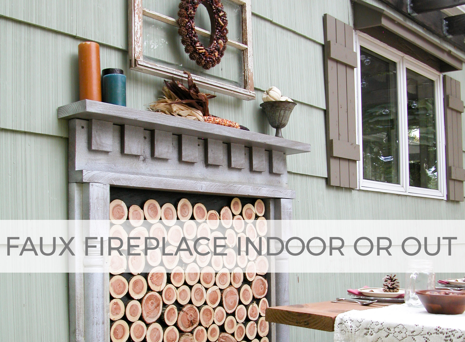Create a faux fireplace for indoor or out by Larissa of Prodigal Pieces | prodigalpieces.com