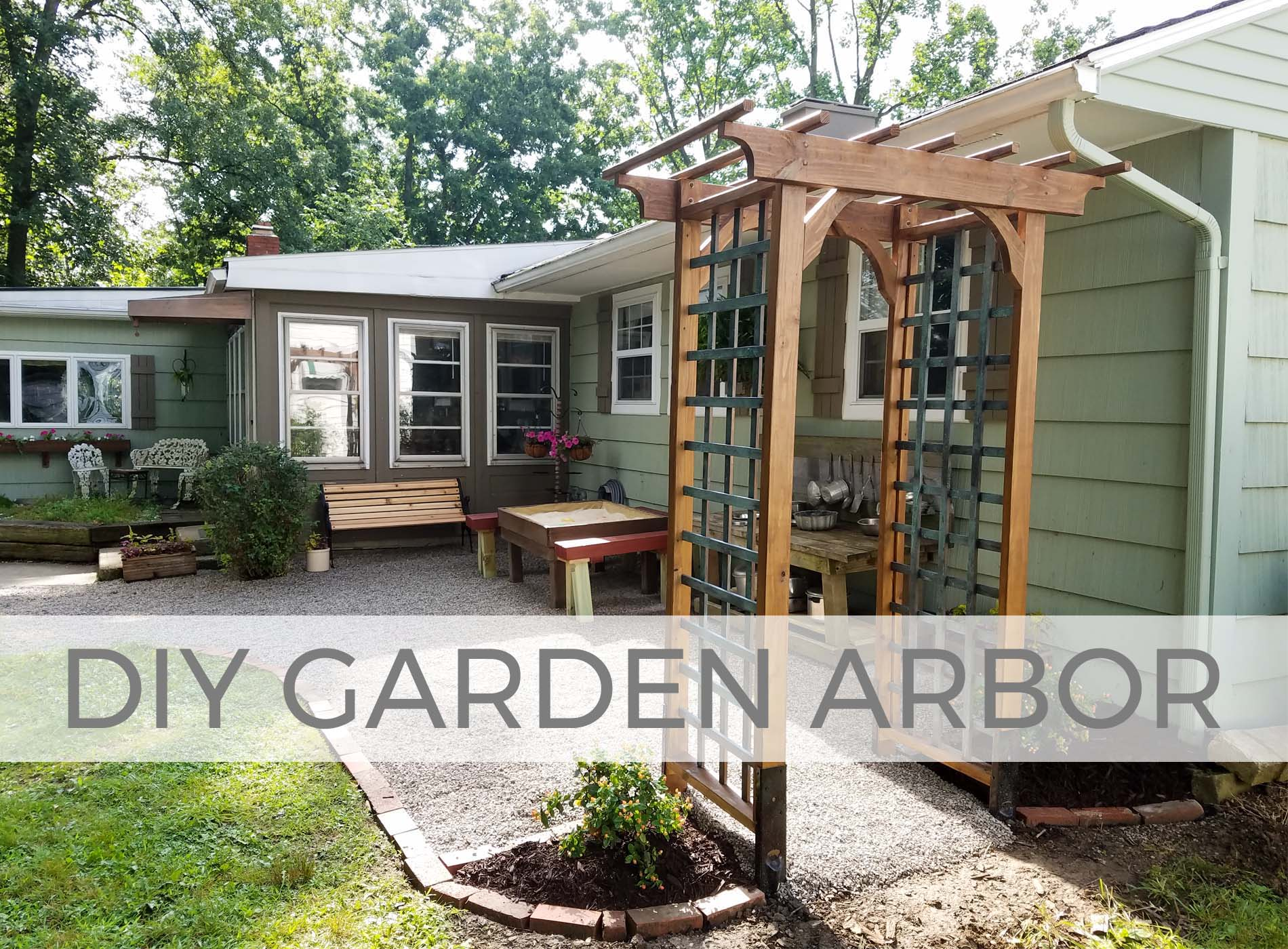 Build this DIY Garden Arbor with Free Plans by Larissa of Prodigal Pieces | prodigalpieces.com #prodigalpieces