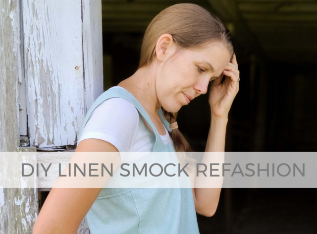 DIY Linen Smock from Refashioned Pants by Larissa of Prodigal Pieces | prodigalpieces.com