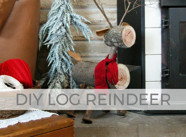 Cute and whimsical DIY log reindeer tutorial by Larissa of Prodigal Pieces | prodigalpieces.com #prodigalpieces