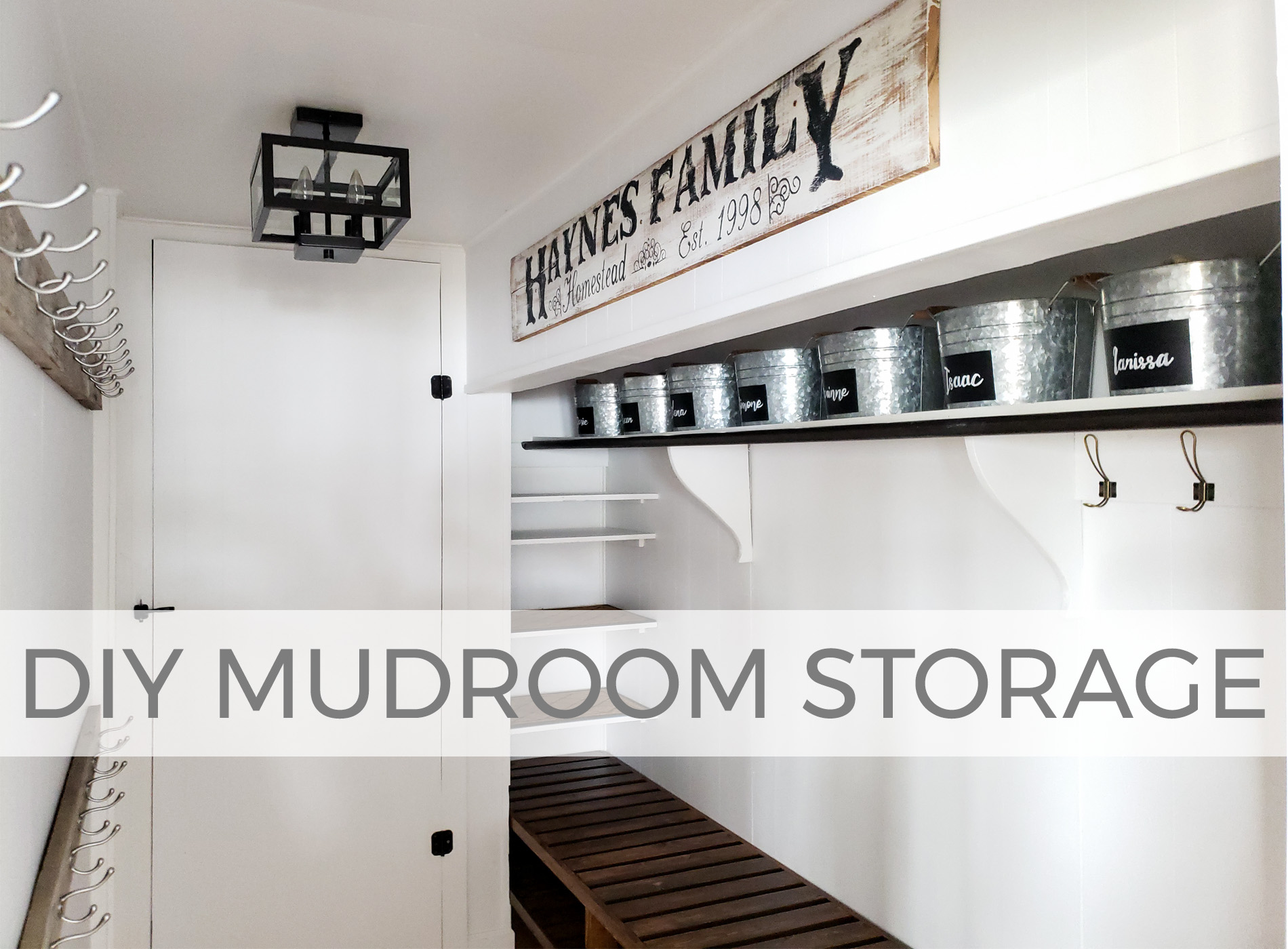 DIY Mudroom Storage with Details by Larissa of Prodigal Pieces | prodigalpieces.com