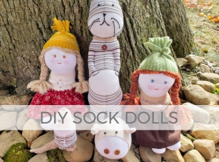 How cute are these DIY sock dolls? Sew up some fun with Larissa of Prodigal Pieces | prodigalpieces.com #prodigalpieces